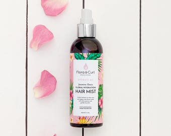 Jasmine Oasis - Floral Hydration - Hair Mist - Hair Spray - Curly Hair, Kinky Hair, Coily Hair, Dry Fragile Natural Hair