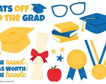 Graduation, School, Diploma - Cute Clipart, Clip Art - Commercial Use, Instant Download | V3
