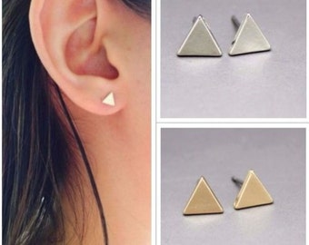 Triangle Stud Earrings | Triangle Studs| Silver/Gold Triangle Stud Earrings | Minimalist Earrings | Dainty Triangle Studs | Geometric Studs