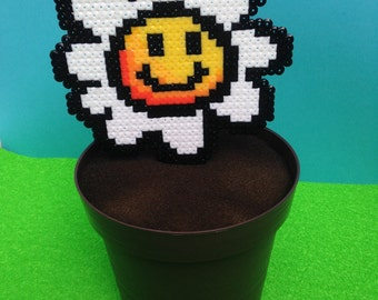 Super Mario Bros Big Piranha and yoshi Island flower in flowerpots