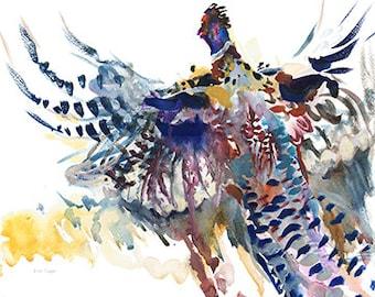 Pheasant- take off/Pheasant watercolour