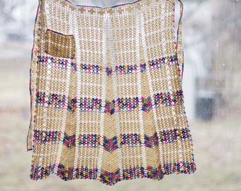 1960s Crocheted Apron