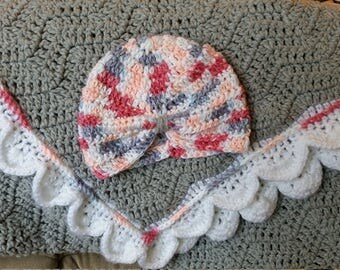 Baby Blanket with matching Turban