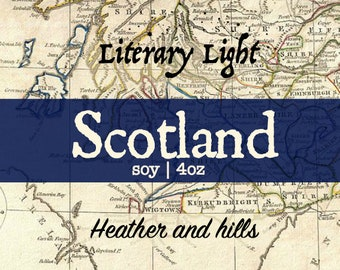 Scotland - 4oz - Hand-poured Bookish Candle