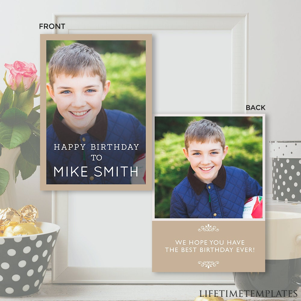 birthday card template photoshop psd instant download. Black Bedroom Furniture Sets. Home Design Ideas