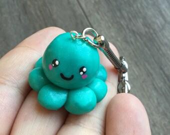 Free shipping! Key-kawaii polymer clay Octopus