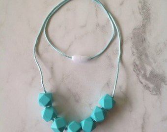 Silicone Teething Necklace - Turquoise