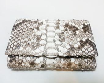 GENUINE PYTHON WALLET for woman-woman rock Python Wallet-genuine rock python leather