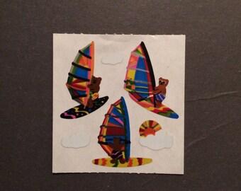 Sandylion vintage rare shiny wind surfer bear stickers