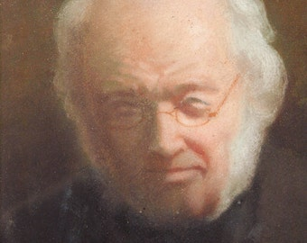 Beautiful pastel portrait of Mr Beauvais