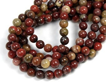 "Two 15"" strands Rainbow Jasper Beads 6mm"