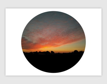 Sunset Photography | DIN A 4 | Sunset Print | Wall Art Prints | Landscape Photography | Yellow Wall Art | Yellow Wall Print | Art Prints