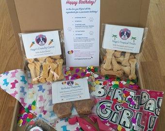 Hugo's Happy Birthday Box - GIRL - Natural Gluten Free Dog Treats