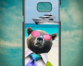 Beach Boss Bear on Vacation Yatch for Samsung Galaxy Note 3, Samsung Galaxy Note 4, Samsung Galaxy Note 5, Electronic Phone Case