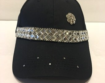 Bling Sparkle Embellished Black Hat