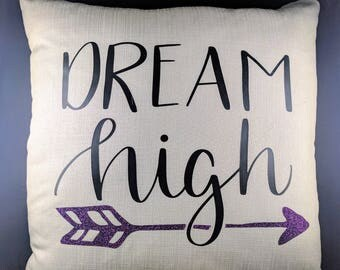 Throw Pillow w/ insert 18 x 18 inch - Dreams High, Throw Pillow Cover