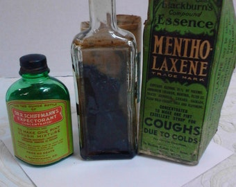 Old Bottles From Cough Syrup