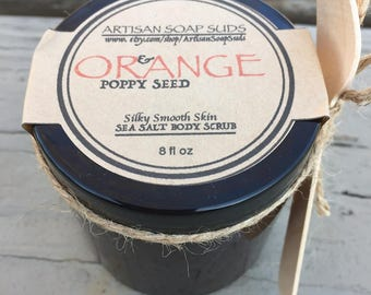 Sea salt scrub, body scrub, essential oil scrub, natural scrub, body polish