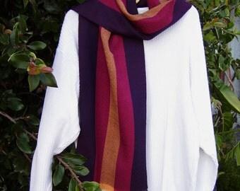 Soft handgewebter scarf in Merino Wool
