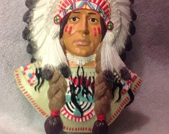 Indian Chief Highly detailed and hand crafted A hanging Christmas ornament