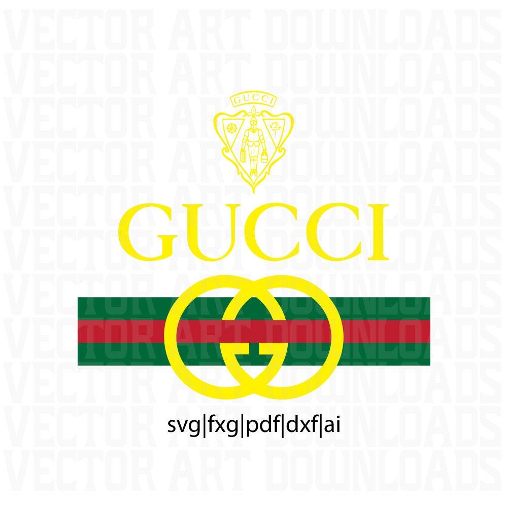 Gucci original vintage inspired logo vector art svg dxf fxg - Images of gucci logo ...