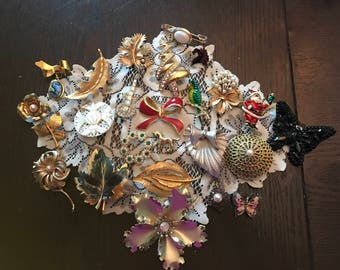 Lot of 24 Vintage Brooches