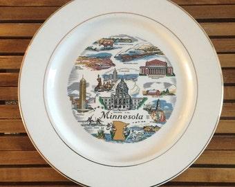 Vintage Minnesota Plate | Minnesota Plate | Vintage Minnesota Wallhanging | Minnesota Decor