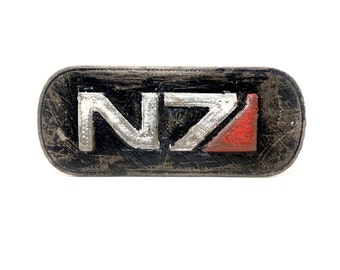 3D Printed Mass Effect N7 Tag