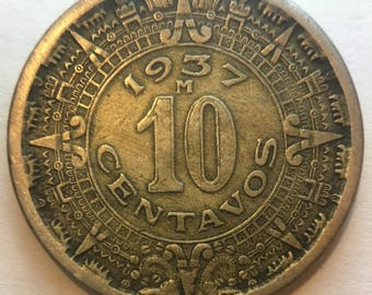 1937 and 1946 Mexican 10 Centavos