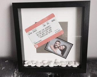 Personalised 'It's not the journey/destination, it's who you're travelling with' Print with Frame
