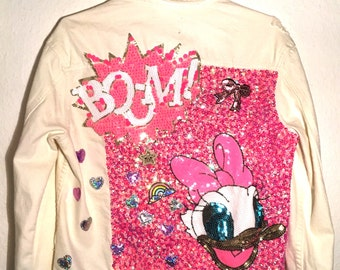 Daisy glitter jacket