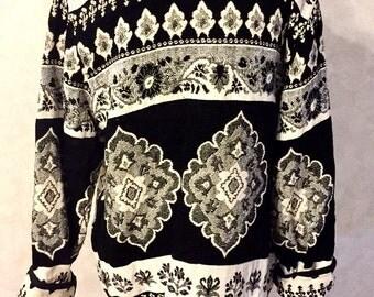 SALE 90s Black and White Twill FLASHBACK Jacket