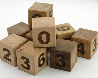 Hardwood Blocks - Wooden Blocks - 12 Piece Wood Toy - Building Blocks Set - Montessori Toys - Natural Wooden Toys
