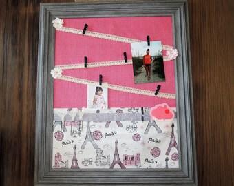 bulletin board paris pink girls decor teenager decor eiffle tower - Decorative Bulletin Boards