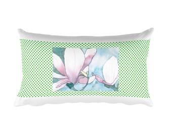 Lilies Green Pillow