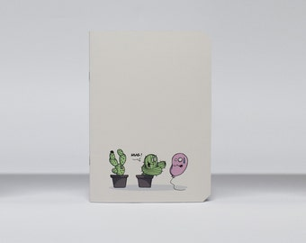 "Notebook A5 lined pages ""Les Cactus"""