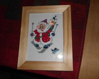 Embroidery image Santa on skis