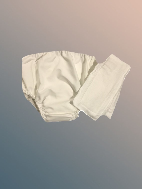 XL-Organic Cotton Lyrca Adult Waterproof Pocket Diaper