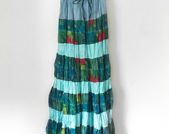 Colorful Cotton Indian Maxi Skirt