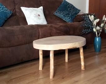 Handmade Rustic Unique Ash Log Coffee Table