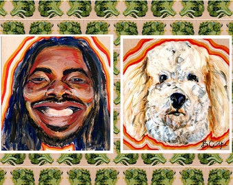 Big Baby D.R.A.M. and his Dog Print