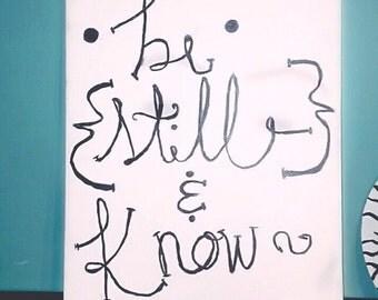 Be Still Canvas