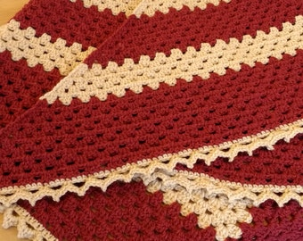 Shawl. Chunky wool, cosy winter shawl
