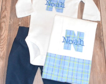 Newborn Boy Coming Home Outfit, Newborn Baby Boy Hospital Hat, Personalized Coming Home Outfit, Newborn Baby Hospital Take Me Home Outfit