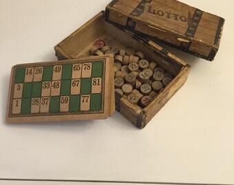Bingo lotto vintage set