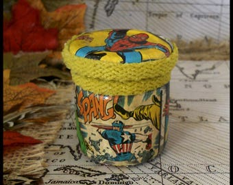Marvel(lous) Hand Decorated Mini Secret Stash Jar for Herbs/Pills/Jewellery...Wedding/Party Favour Gift 45ml