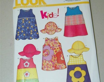 New Look 6281 Toddler Girl Dress Pattern 12989