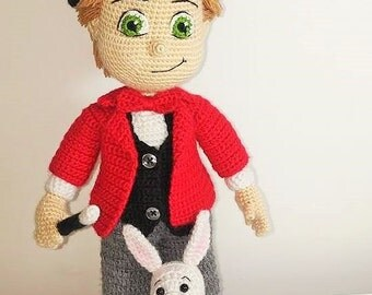 Hocus Pocus Magician Boy- Amigurumi Crochet Pattern-PDF