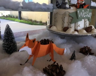 Winter Onederland Food Labels + Fox and Owl Decor