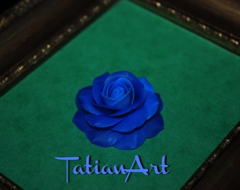 Blue Rose Cabochon Jewelry Supplyes  Rose for you Jewelry  Scrapbooking application